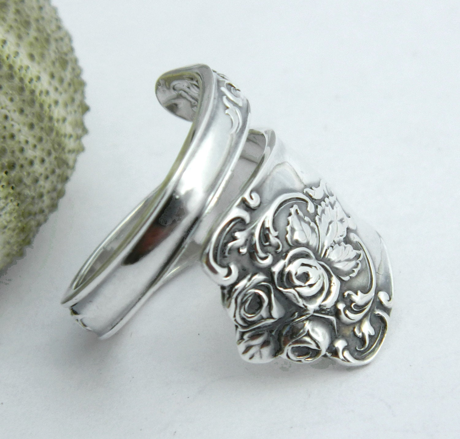 sterling silver spoon ring floral spoon ring spoon jewelry