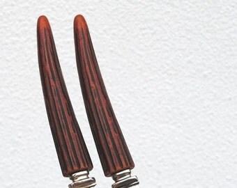 Vintage Regent Sheffield Bakelite Steak Knives, Deco Antler Handles, English Stainless Steel Knife Set