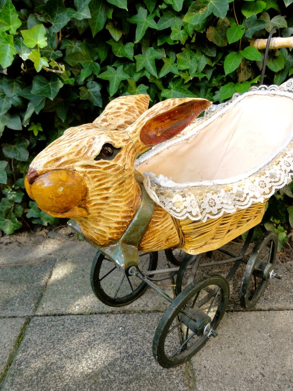 Vintage Doll S Baby Carriage Rabbit Pram By Oldamsterdam