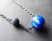 Earth Necklace / Earth and Moon Necklace / Moon Necklace / Globe Necklace / World Necklace / Planets Necklace