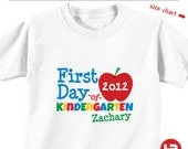 First Day of Kindergarten Shirt - Personalized Back to School Shirt - HeatherRogersDesigns
