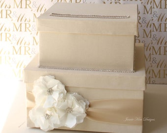 Lovely Wedding Card Box Money Box Gift Card Box - Custom Made to Order (choose your own colors)