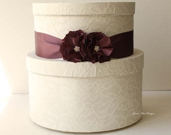 Laced Wedding Card Box, Money Holder - Custom Card Box