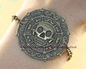 Cursed Pirate Doubloon bracelet- Pirates of the Caribbean Bracelet
