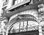 La Maison Guerlain -Paris Photograph- Champs Elysees- Shalimar -French- Perfume House- 8 x 10- Black and White - Fine Art -Fashion -