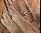 Vintage Men's Leather Work Gloves