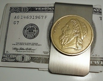 Greece Vintage Homer Coin Money Clip 1988