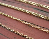"36"" Gold Chain Necklace Finished With A Lobster Clasp Your Choice of Chain Style Nickel Free 14k Gold Plated Chains"