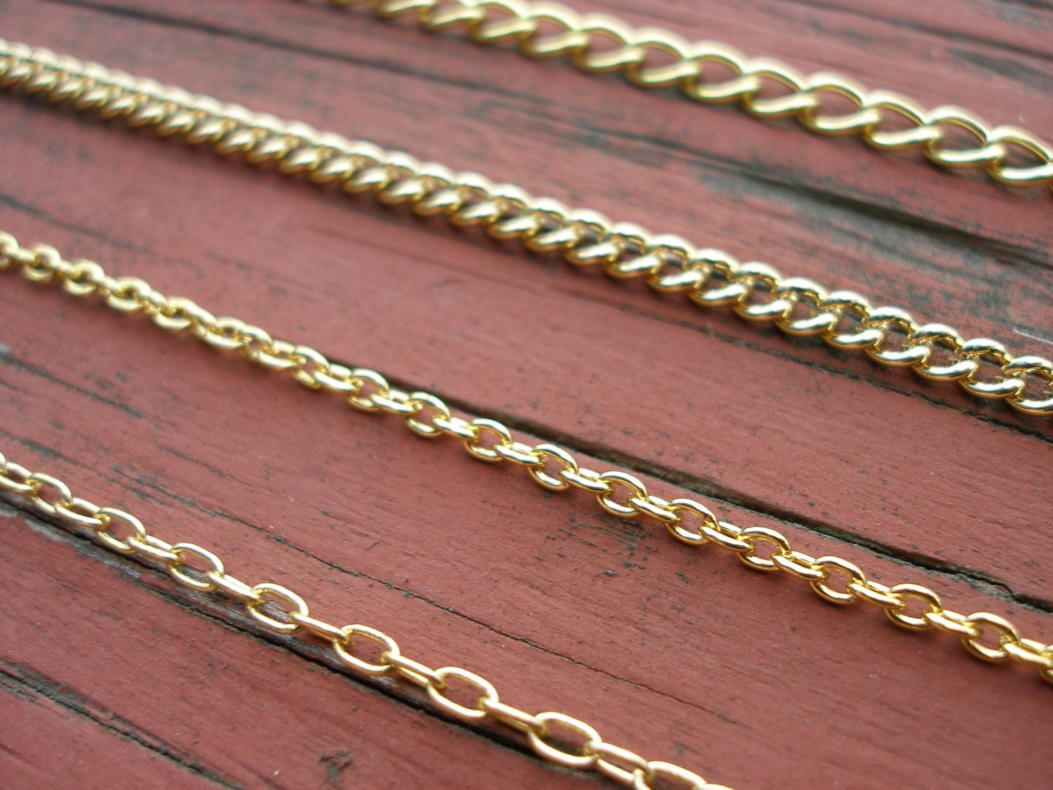 36 Gold Chain Necklace Finished With A Lobster Clasp