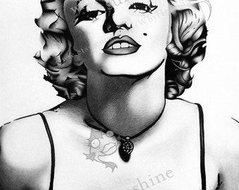 Marilyn Monroe Print - Gift - Art - New Year
