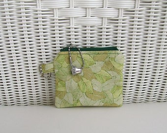 READY-TO-SHIP Coin Purse /  Zippered Change Purse / Padded Green Change Purse