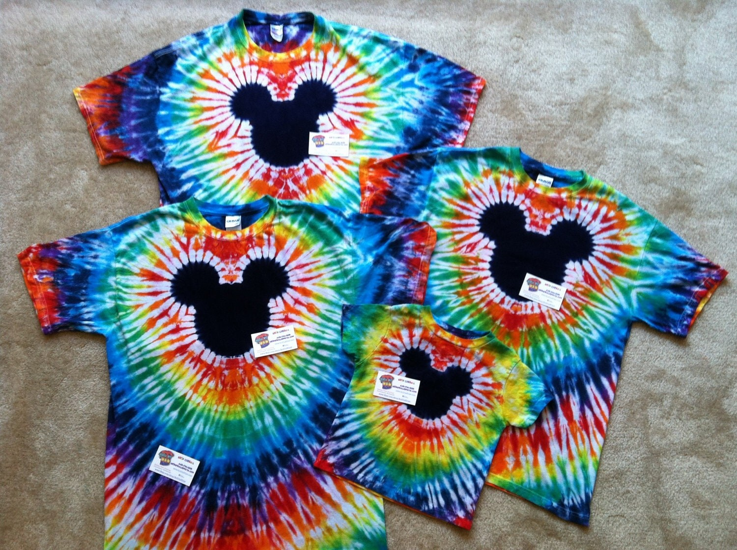 Famous mouse tie dye t shirts family pack reserved for for Customized tie dye shirts