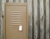 vintage industrial brownbuilt single door locker - epochco