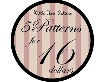 Great Deal - Buy 5 PDF Baby Shoes Pattens for 16 Dollars