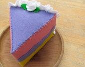 100% wool felt cake slice, waldorf inspired
