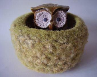 felted wool bowl, wool container, desktop storage, jewelry holder, candy dish, eco friendly storage