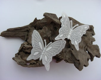 Parchment Butterflies Hand Embossed (Set of 6 Mixed) Luxury Embellishment
