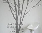 Tree Wall Decal Wall Sticker-Lovely Winter Tree