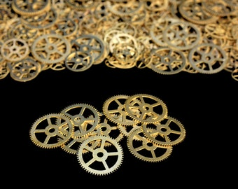 BrassSteampunk Gears, Steampunk Accessories, Steampunk Craft Jewelry Supply -10qty - 1 Inch (25.4mm) Gears