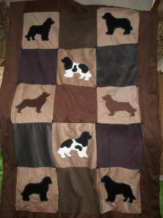 Newfoundland Dog Silhouette Quilt 4x6 By Mylittleendurance