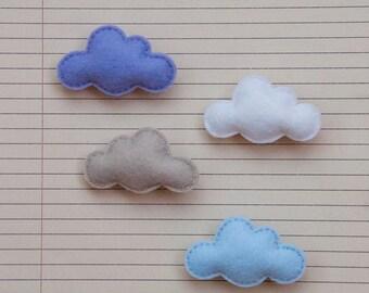 Felt cloud brooch
