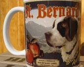 St. Bernard Crate Label Coffee Mug