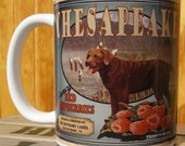 Chesapeake Bay Retriever Crate Label Coffee Mug