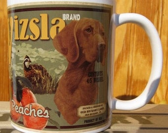 Vizsla Crate Label Coffee Mug