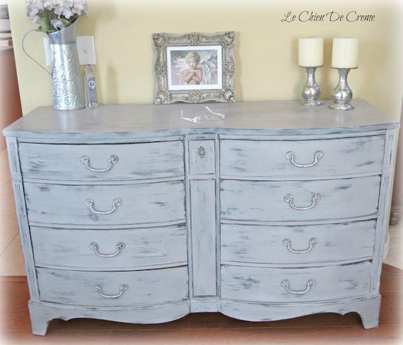 Vaisselier Shabby Chic: Shabby Chic Paris Gray Dresser