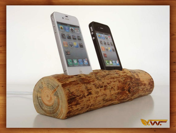 iPhone 4S / iPhone 5 dual docking station (sync/charge, can serve as iPod / iPhone stand) - Custom Order