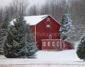 Barn in Winter--8 X 10 Fine Art Print (727058)