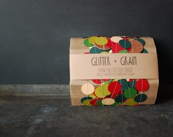 25' Paper & Thread Garland: Peachy Holiday Mix