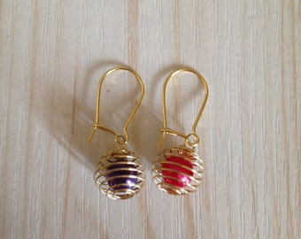 Fun Purple and Hot Pink Mix Match Earrings