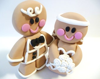 Gingerbread Wedding Cake Topper - Choose Your Colors
