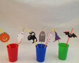 Halloween Party Straws