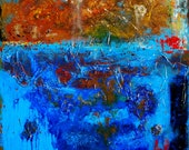 LARGE Abstract Art 30x40 Landscape Acrylic