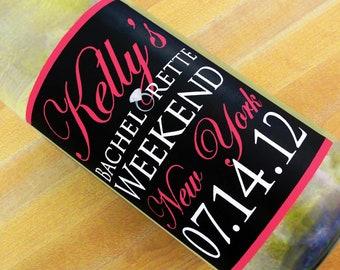 Custom Wine Labels - Bachelorette with Diamond Ring (Set of 5)