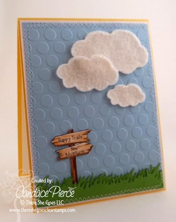 Handmade Happy Trails Greeting Card