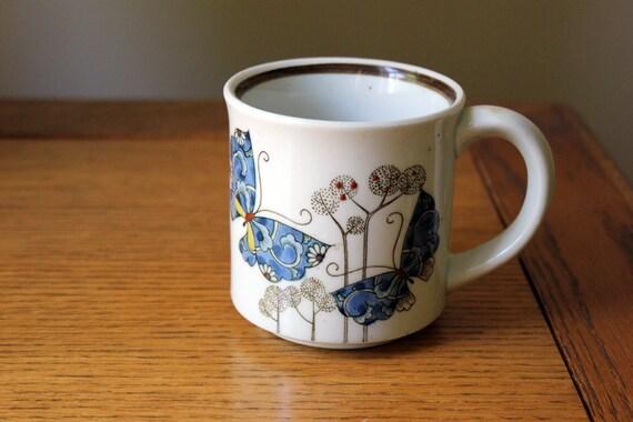 Asian Patterned Butterfly Mug