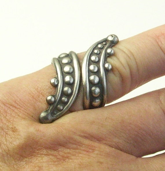 Sterling Silver Wrap Mexico Vintage RING Signed CS on Etsy