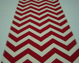 Red Chevron (Zig Zag) Table Runner