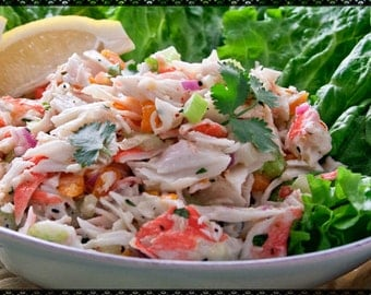 Delicious Crab~Shrimp Seafood Salad Recipe~~~Instant Download~~~Back by Request