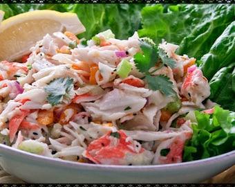 Delicious Crab~Shrimp Seafood Salad Recipe~~~Instant Download