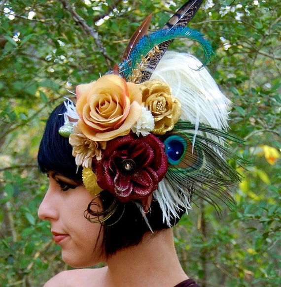 GYPSY ROMANCE Feather Headdress SALE