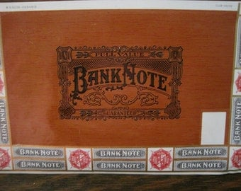 Vintage Bank Note Cigar Box Labels