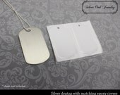 Set of 10 - Metal dog tags with epoxy covers