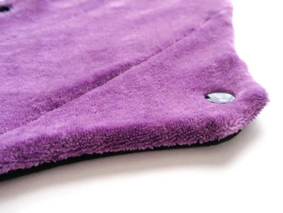 New Item Organic Bamboo Velour Cloth menstrual pad fleece back PURPLE