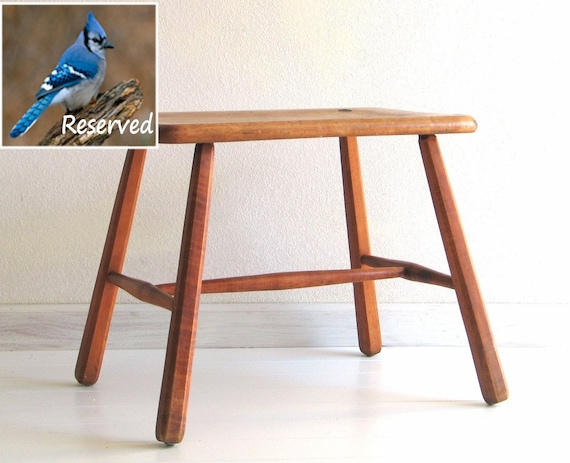 RESERVED for Lorraine - Vintage Mid Century Stool Mortise and Tenon joints