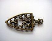 Vintage Brass Trivet Iron Stand
