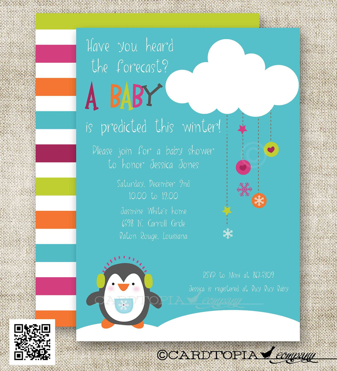 snowman penguin winter baby shower baby shower by cardtopiacompany